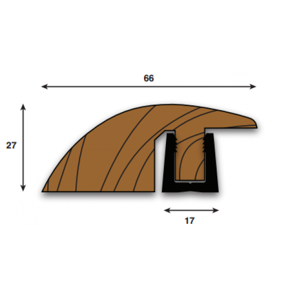 Parallel Threshold R (Ramp, Reducer) Section 2000mm(l) (18-22mm)