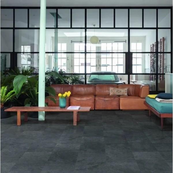 Quick-Step Alpha Black Slate AVST40035 Rigid Vinyl Flooring