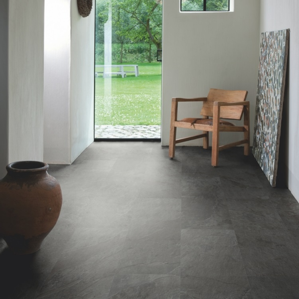 Quick-Step Livyn Ambient Click Black Slate AMCL40035 Vinyl Flooring