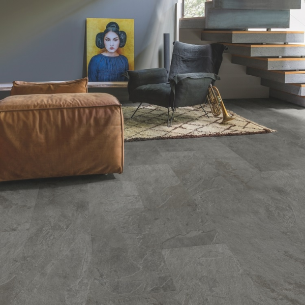 Quick-Step Livyn Ambient Click Grey Slate AMCL40034 Vinyl Flooring