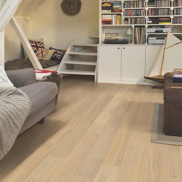 Quick-step Compact Cotton White Oak COM1451 Engineered Wood Flooring