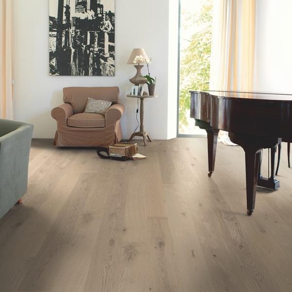 Quick-step Compact Oak Cobblestone Grey COM3107 Engineered Wood Flooring (D)