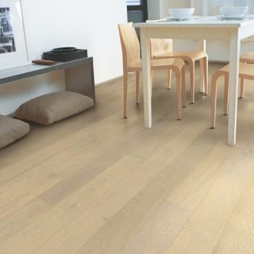 Quick-step Compact Oak Snowflake White COM3099 Engineered Wood Flooring (D)