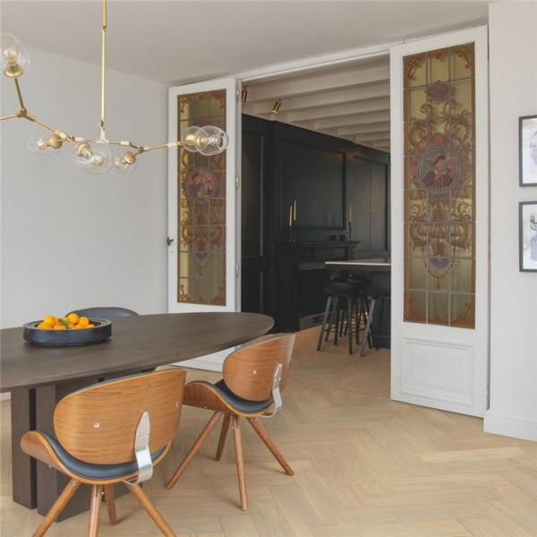 Quick-Step Disegno Creamy Oak Natural Extra Matt Herringbone Engineered Wood Flooring DIS4856S