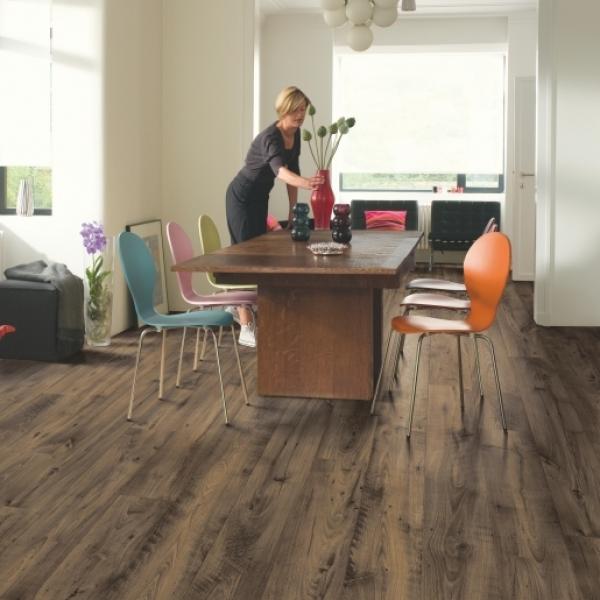 Quick-Step Eligna Reclaimed Chestnut Brown Planks Laminate Flooring