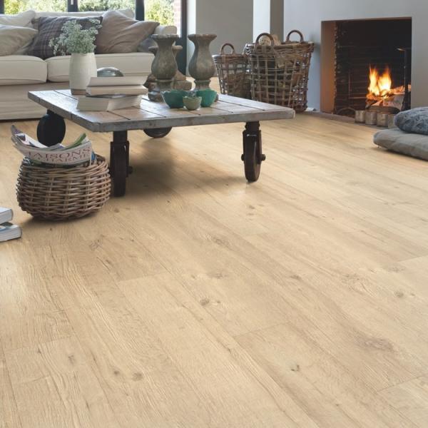 Quick-Step Impressive Sandblasted Oak Natural Laminate Flooring