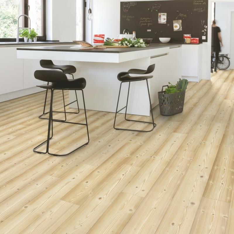 quick step impressive natural pine laminate flooring. Black Bedroom Furniture Sets. Home Design Ideas