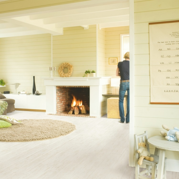 Quick-Step Perspective 4v White Brushed Pine Planks Laminate Flooring (D) no longer available