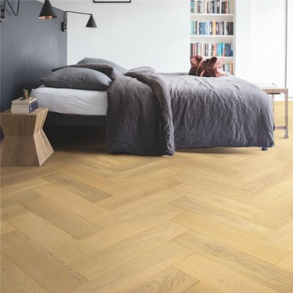 Quick-Step Disegno Pure Light Oak Extra Matt Herringbone  Engineered Wood Flooring DIS5115S