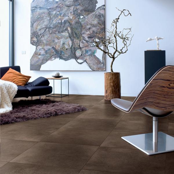 Quick-Step Arte Polished Concrete Dark Tile Laminate Flooring