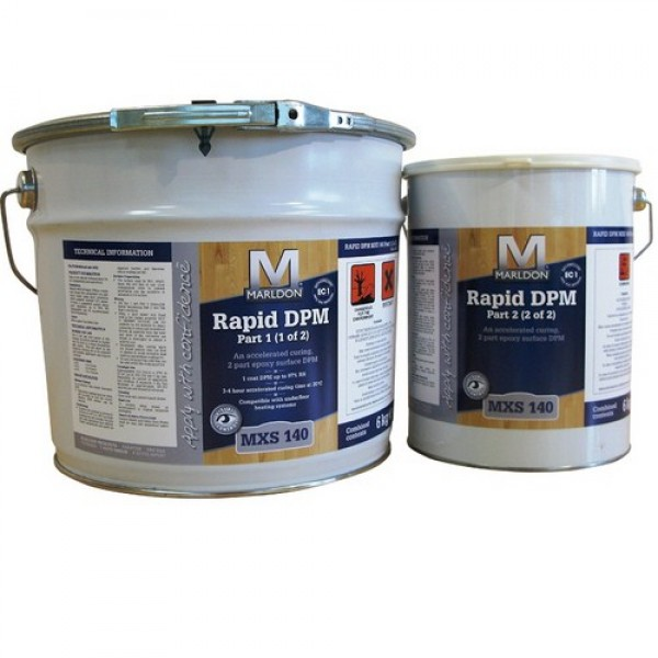 Marldon Rapid Damp Proof Membrane(2 part) 4l Bucket