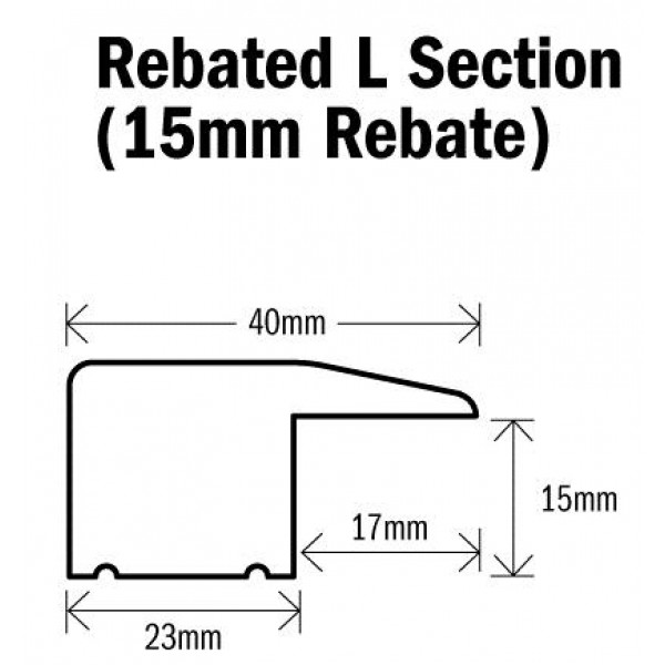 Threshold L Section Natural Oak 1000mm(l) Rebated