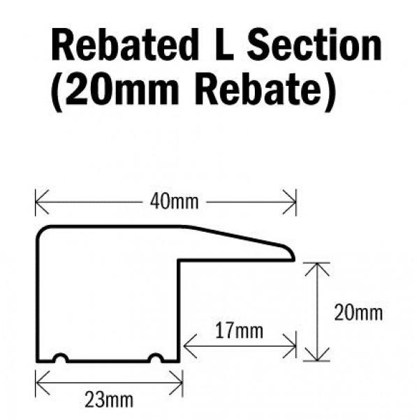 Threshold L Section Natural Oak 1000mm(l) (20mm Rebate) Rebated