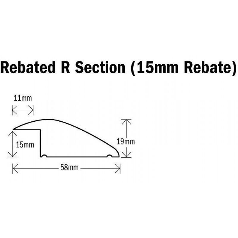 Threshold R (Ramp, Reducer) Section Natural Oak 1000mm(l) Rebated