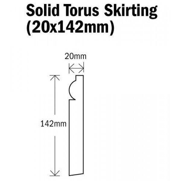 Skirting Solid Torus Natural Oak 2400mm (20x142mm)