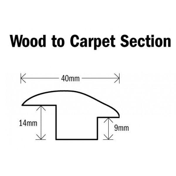 Threshold Wood to Carpet Section Natural Oak 1000mm(l)
