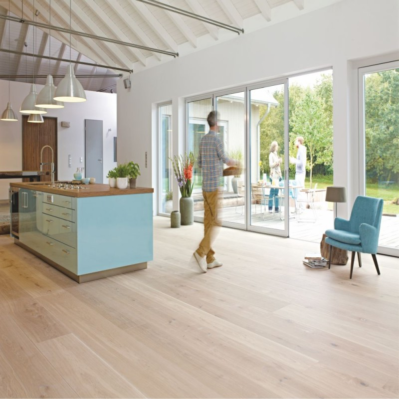 Boen oak coral white chalet plank 1 strip 300mm live for Chalet flooring