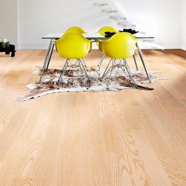 Kahrs Ash Falsterbo White Matt Lacquered Engineered Wood Flooring