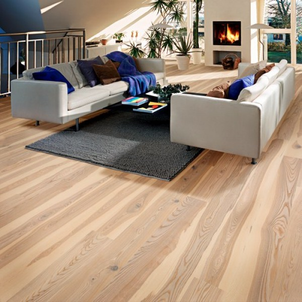 Kahrs Ash Sandvig White Matt Lacquered Engineered Wood Flooring