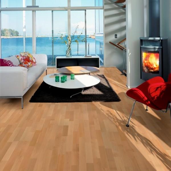 Kahrs Beech Hellerup Satin Lacquered Engineered Wood Flooring