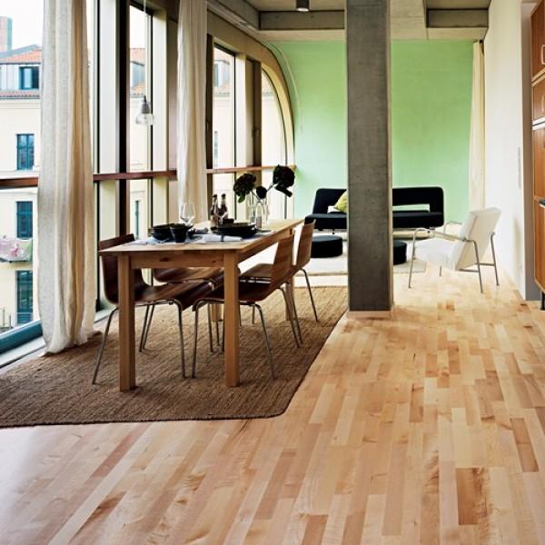 Kahrs Maple Salzburg Satin Lacquered Engineered Wood Flooring (D)