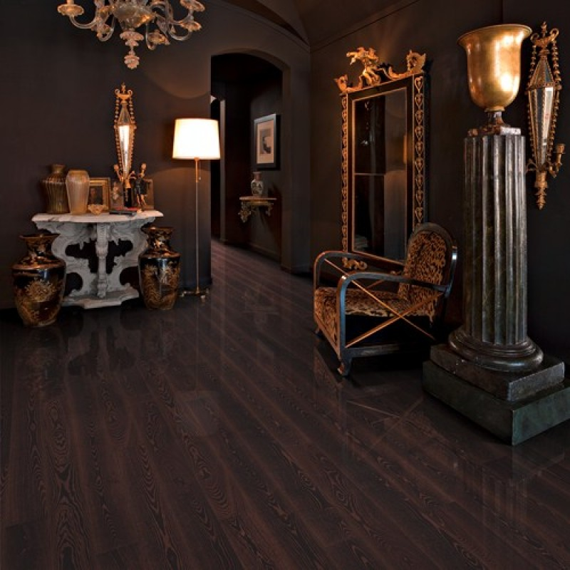 Kahrs Black Copper Ash 1 Strip 187mm High Gloss Lacquered
