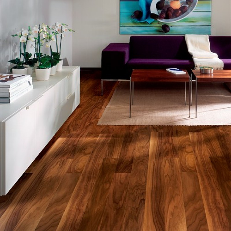 Kahrs Walnut Garden 1 Strip 125mm Satin Lacquered