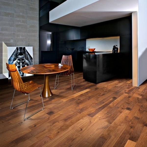 Kahrs Walnut Groove Oiled Engineered Wood Flooring