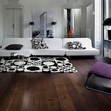 Kahrs Oak Nouveau Black Matt Lacquered Engineered Wood Flooring