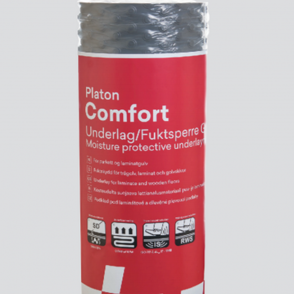 Platon Comfort Wood/Laminate Flooring Underlay 20m2 and Tape Protection against dampness
