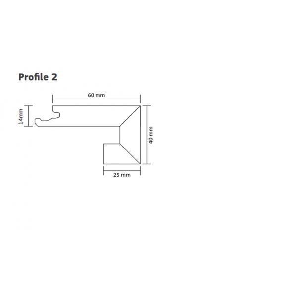 Nosing (Boen) Natural Oak 2000m - Profile 2