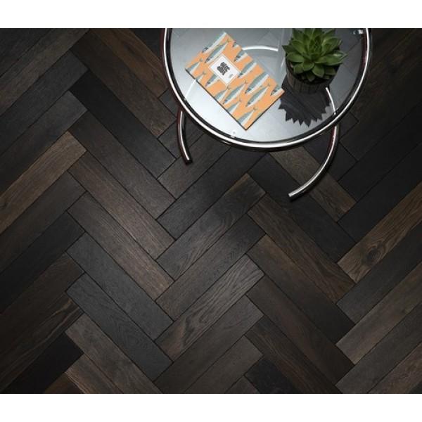 Woodpecker Goodrich Charred Oak Engineered Herringbone Flooring