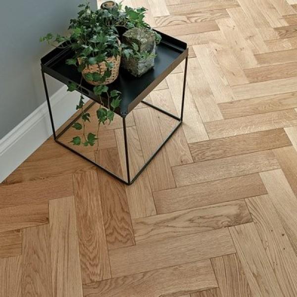 Woodpecker Goodrich Natural Oak Engineered Herringbone Flooring