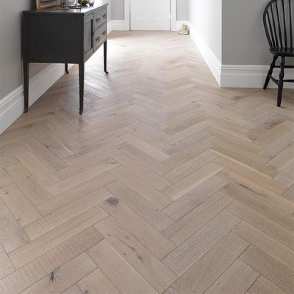 Woodpecker Goodrich Salted Oak Engineered Herringbone Flooring