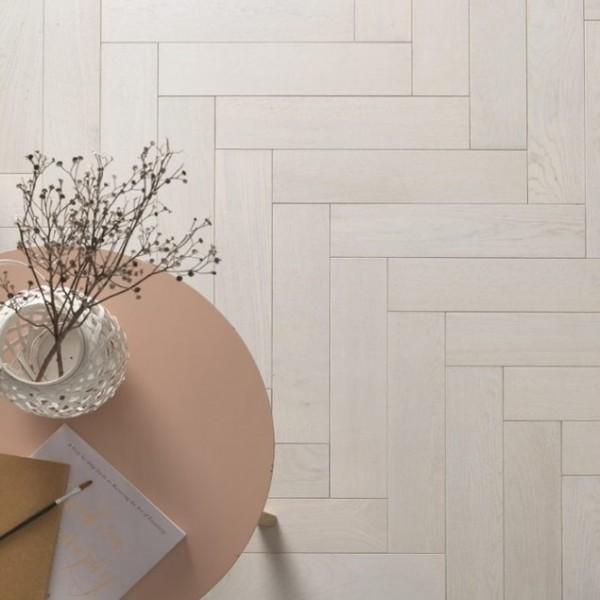 Woodpecker Goodrich Cotton Oak Engineered Herringbone Flooring