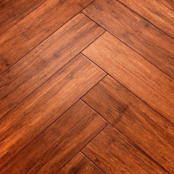 Woodpecker Oxwich Coffee Strand Bamboo Herringbone Wood Flooring