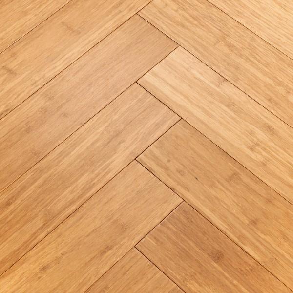 Woodpecker Oxwich Natural Strand Bamboo Herringbone Wood Flooring