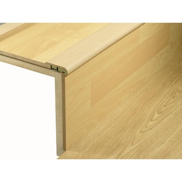 Woodpecker laminate wood effect stair nosing 2700mm profile